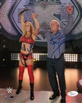 "Ric Flair ""16x"" & Charlotte Signed 8x10 Wrestling Photo Autographed JSA #Q98236"