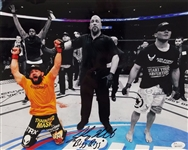 "Johny Hendricks ""Big Rigg"" Signed UFC 11x14 Photo JSA Witness #W619221"