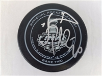 Daniel Paille Bruins Signed Official 2013 NHL Stanley Cup Game 2 Puck PSA W33759