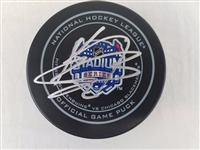 Kris Versteeg Signed 2014 NHL Stadium Series Blackhawks Game Puck PSA #W33585