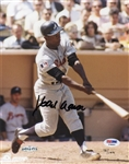 Hank Aaron Signed 8x10 L/E Photo Signed PSA & Upper Deck COA