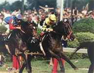 Jean Cruget Seattle Slew Kentucky Derby, Triple Crown, Signed 8x10 Photo MAB Hologram