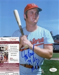 Jeff Burroughs Inscribed 74 AL Mvp Signed 8x10 Photo JSA COA