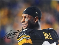 Leveon Bell Pittsburgh Steelers Signed 8x10 Photo JSA Witness COA