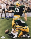 Lou Michaels Green Bay Packers Signed 8x10 Photo JSA Hologram