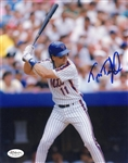 Tim Teufel New York Mets Signed 8x10 Photo JSA COA