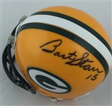 Bart Starr Green Bay Packers Signed Riddell Mini Helmet JSA COA