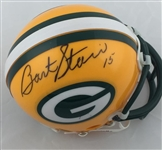 Bart Starr Green Bay Packers Signed Riddell Mini Helmet JSA LOA
