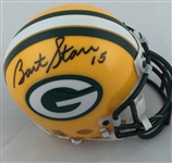 Bart Starr Green Bay Packers Signed Riddell Mini Helmet PSA COA