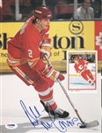 Al Macinnis Flames Signed Magazine Page Photo Authentic Autograph PSA #U45460