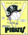 Willie Stargell Signed 1962 Official Pirates Yearbook Magazine PSA/DNA #Z70859