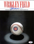 Andre Dawson Signed 8.5x11 Wrigley Fields First Night Game Pamphlet PSA #Z70874