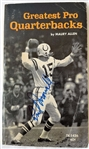 "Earl Morrall Colts Signed 4x7 ""Greatest Pro QBs Softcover Book JSA #P65037"