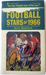 Jim Taylor Signed 4.25x7 Football Stars of 1966 Softcover Book JSA #P65040