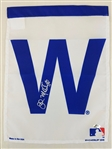 "John Mallee Signed MLB Authentic 11x15 Chicago Cubs ""W"" Flag Schwartz Sports COA"