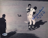 "Bud Harrelson ""NLCS 10.8.73"" Signed 8x10 Photo Fighting Pete Rose BAS #B95755"