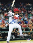 Jurickson Profar Signed Rangers 8x10 Photo Authentic Autograph PSA/DNA #V95397