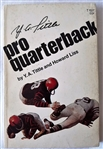 Y.A. Tittle Signed 4.25x6.25 Pro Quarterback Softcover Book JSA #P65041