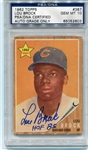 Lou Brock Signed HOF 85 1962 Rookie Topps Card #387 PSA Graded 10 Autograph