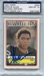 Marcus Allen Signed 1983 Topps Rookie Card #294 PSA Graded Gem Mint 10