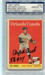 Orlando Cepeda Signed 58 ROY 1958 Rookie Topps Card PSA Graded 10 Autograph