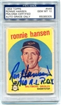 Ronnie Hansen Signed 1960 AL ROY 1959 Rookie Topps Card PSA Graded 10