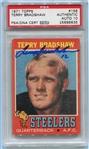 Terry Bradshaw Signed 1971 Topps Rookie Card  #156 PSA Graded 10 Autograph