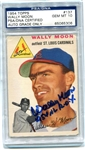 Wally Moon Signed 1954 AL ROY 1954 Rookie Topps Card PSA Graded 10 Autograph