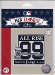 Aaron Judge New York Yankees All Rise #99 MLB Licensed Collector Fan Patch