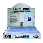100 Ultra Pro Silver Series 9 Pocket Pages