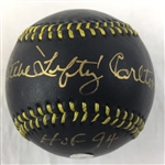 "Steve Carlton Philadelphia Phillies Lefty, HOF 94"" Signed Baseball MLB COA  """