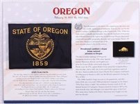 Oregon Willabee & Ward State Flag Patch with Statistics and Collectible Info Card