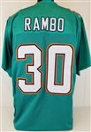 Bacarri Rambo Miami Dolphins Custom Home Jersey Mens Large
