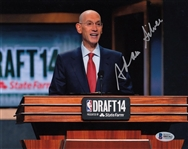Adam Silver Signed NBA Commissioner 8x10 Photo Autographed Beckett BAS #B85362