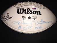 Johnny Unitas, Bart Starr, Jerry Rice, Gale Sayers +2  Signed Football PSA COA