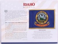 Idaho Willabee & Ward State Flag Patch with Statistics and Collectible Info Card