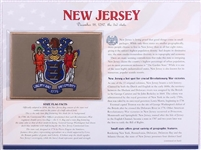 New Jersey Willabee & Ward State Flag Patch with Statistics and Collectible Info Card