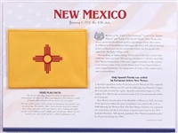 New Mexico Willabee & Ward State Flag Patch with Statistics and Collectible Info Card