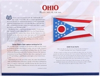 Ohio Willabee & Ward State Flag Patch with Statistics and Collectible Info Card
