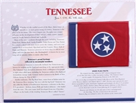 Tennessee Willabee & Ward State Flag Patch with Statistics and Collectible Info Card