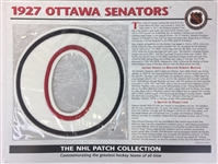 1927 Ottawa Senators Patch NHL Hockey Willabee & Ward Official Jersey Patch