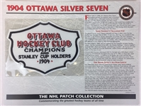 1904 Ottawa Silver Seven Patch NHL Hockey Willabee & Ward Official Jersey Patch