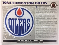 1984 Edmonton Oilers Patch NHL Hockey Willabee & Ward Official Jersey Patch