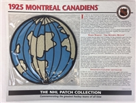 1925 Montreal Canadiens Patch NHL Hockey Willabee & Ward Official Jersey Patch