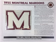 1935 Montreal Maroons Patch NHL Hockey Willabee & Ward Official Jersey Patch