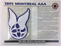 1893 Montreal Aaa Patch NHL Hockey Willabee & Ward Official Jersey Patch