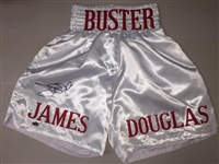 James Douglas Signed Boxing Trunks JSA COA