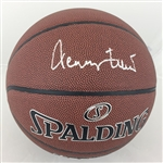 Jerry West Los Angeles Lakers Signed Spalding Basketball JSA COA