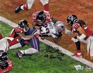 "James White ""SB GW TD"" Signed Patriots SB 51 8x10 Photo with Fanatics Hologram"
