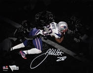 James White Signed Patriots Super Bowl 51 TD 8x10 Photo with Fanatics Hologram